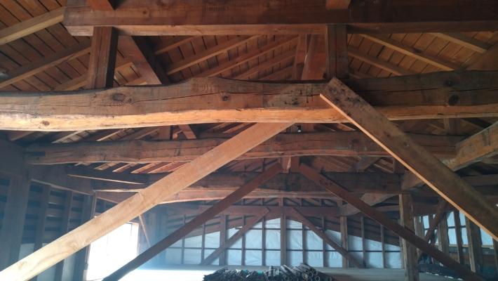 古民家の屋根裏