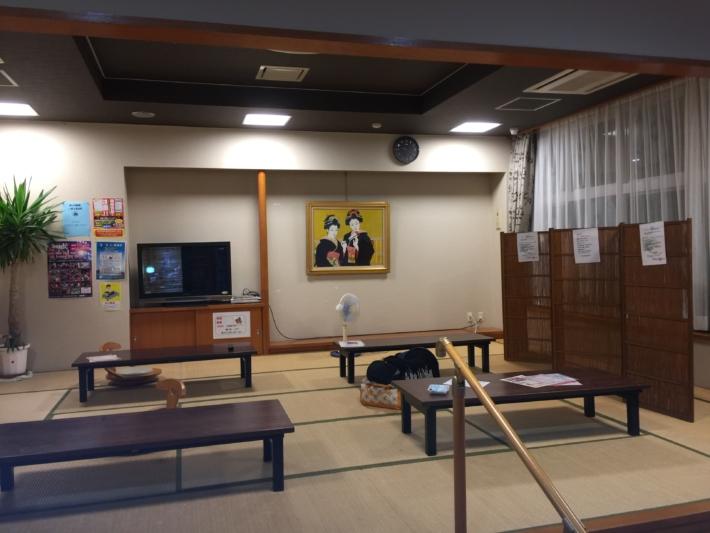 北山温泉内休憩所・お風呂上がりにくつろげるお座敷