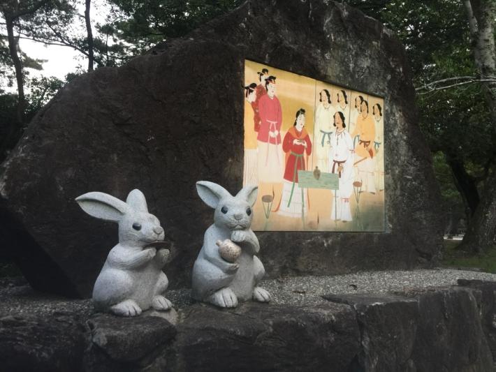 【出雲大社】契りの杯を交わすウサギ像