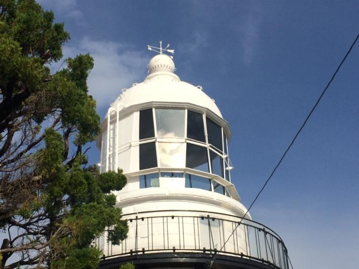 美保関の灯台風見