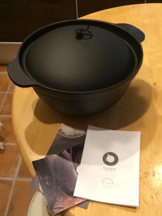 IHでも使える鉄鍋と説明書