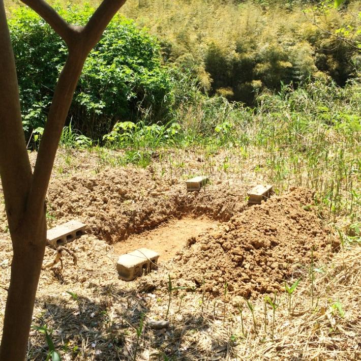開墾中の畑