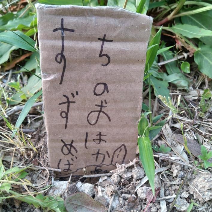 子供手作り墓標