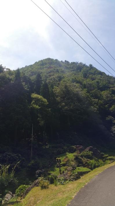 龍頭が滝近くの風景