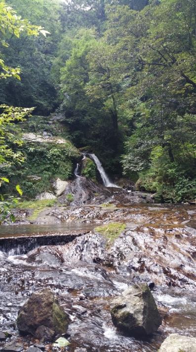 別のスポットから見た龍頭が滝の雌滝