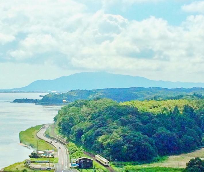 北山山系と一畑電車