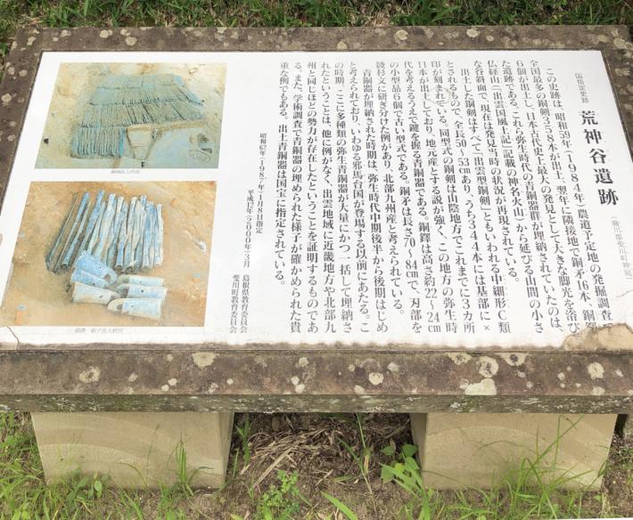 【荒神谷遺跡の紹介文】