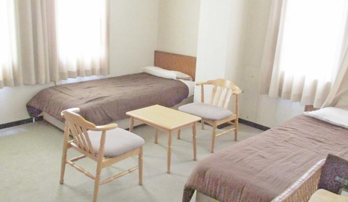 奥出雲多根自然博物館・【ツインの客室】シンプルで快適な居心地