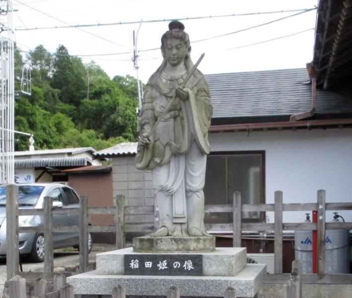 【稲田姫像】スサノオが守ったと神話が伝える稲田姫